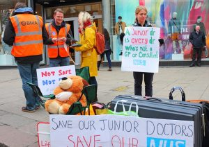 Junior doctor demo for the NHS