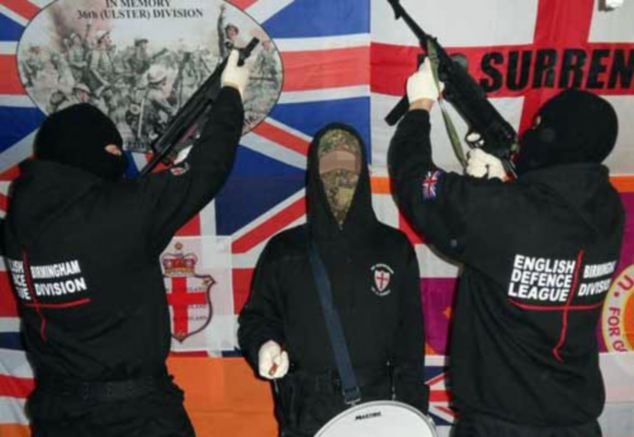 Armed EDL Activists