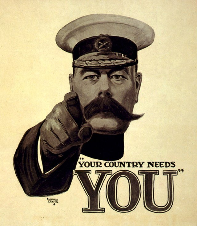 Kitchener Poster: Conscription could be the answer!
