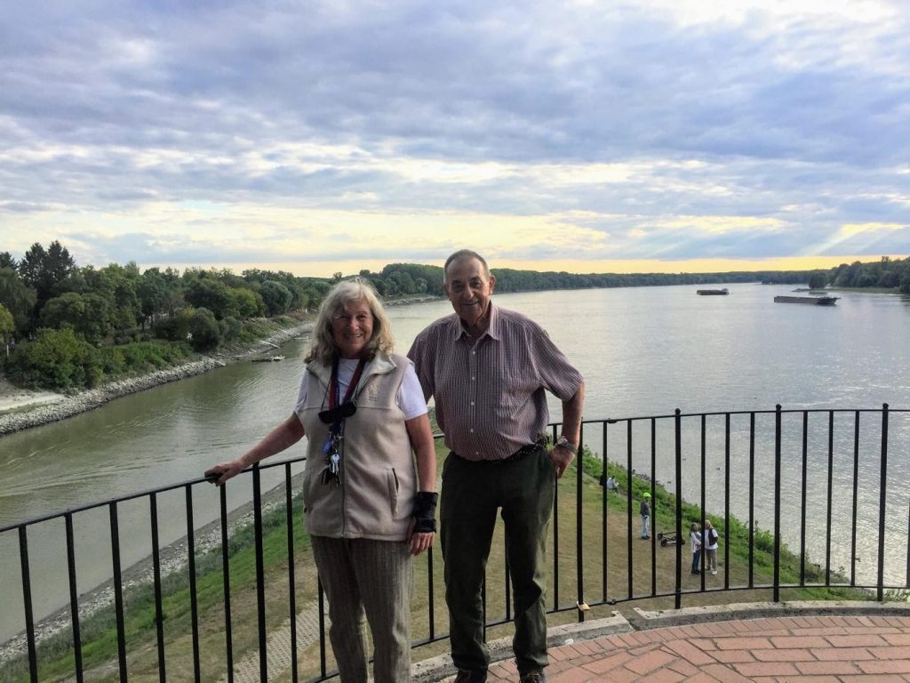 Magdalena and Mike at the confluence of the two rivers