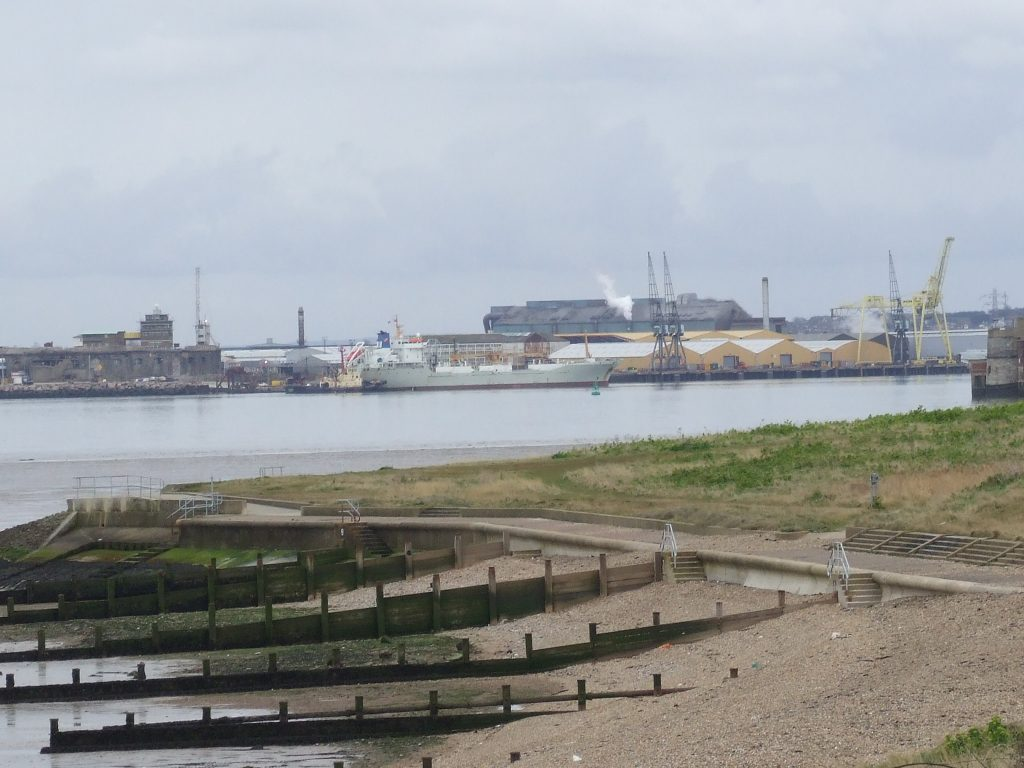 Towards Plastic Free Medway: the Mouth of the Medway River looking from Grain to Sheerness